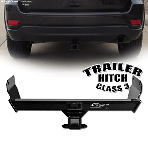 VXMOTOR for 2011-2017 Jeep Grand Cherokee Limited Laredo Overland Summit Class 3 III Trailer Towing Hitch Mount Receiver Rear Bumper Utility Tow Kit 2