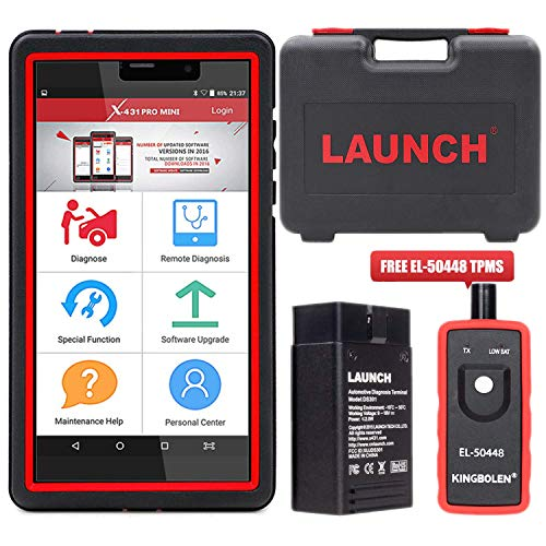 Lo Pro Injector - LAUNCH X431 Pro Mini Bidirectional Scan Tool Full System Scan with ECU Coding, Injector Coding,Key Fob Programming,Oil Reset,TPMS,BMS,SAS,DPF,EPB,ABS Bleeding + TPMS Activation Tool EL-50448 As Gift