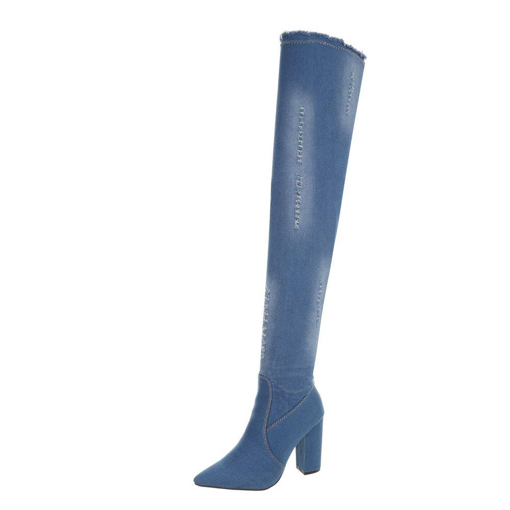 Ital-Design Cuissardes Chaussures Femme Bottes Bottes et Bottines Kitten-Heel Bottes Cuissardes Ital-Design Lumière Bleue Od-223 9a5ad59 - latesttechnology.space