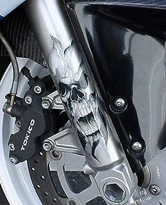i5 Fork Skull Decals for Honda Kawasaki Suzuki Yamaha Harley by i5 Motorcycle