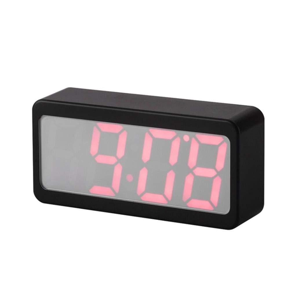 V.JUST LED Reloj Despertador USB Powered Digital RGB Termómetro Interior Relojes De Mesa De Escritorio Electrónicos,Black: Amazon.es: Hogar