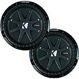 2-Pack Kicker 10 1600W CompRT 1-Ohm Shallow DVC Car Subwoofers | 2 x 40CWRT101