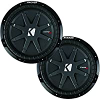 Kicker CompRT package - Two 12 CompRT Subwoofers Dual 1 Ohm 40CWRT121