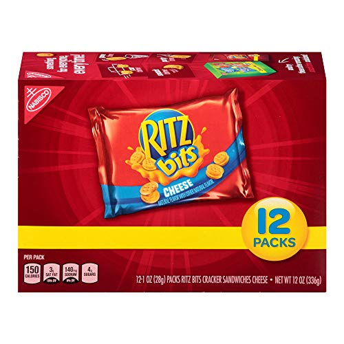 (Ritz Bits Cheese Cracker Sandwiches, 12 Count Individual Snack Bags)