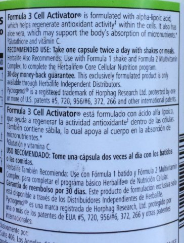 Amazon.com: Herbalife Cell Activator With Alpha Lipoic Acid - 2-Bottle Pack - 60 Capsules Each Bottle: Health & Personal Care