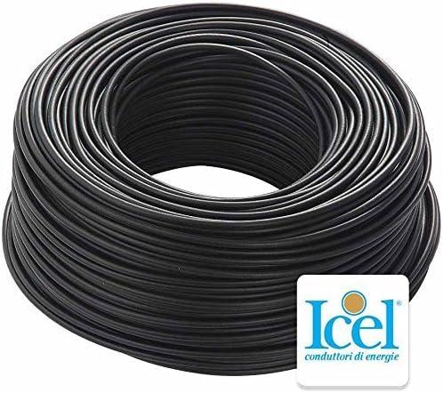 Cavo Icel Elettrico Matassa Bobina 100 metri Unipolare Isolante FS17 Impianti Casa Aziende Edili Sezione 10 mm, Grigio