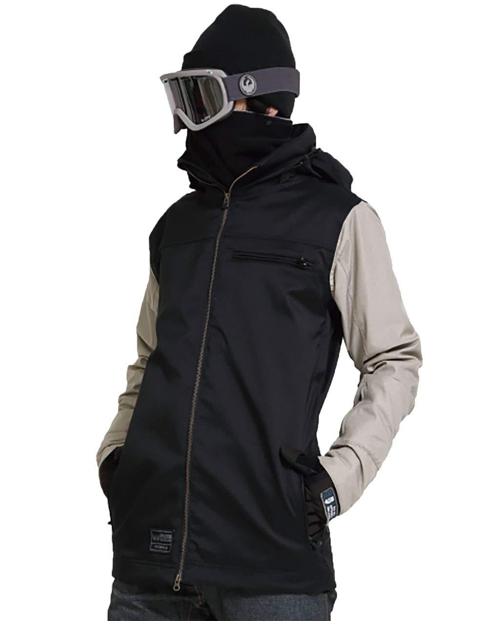 19-20 WACON スノーボードウェア メンズ EDGE エッジ JACKET ワコン スノボジャケット BLK_SAND XL
