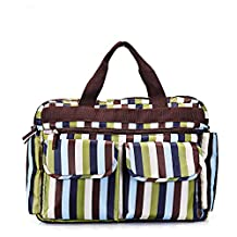 Newtion Stylish Waterproof Large Capacity stripe Designer Baby Diaper Nappy Messenger Bag Mommy Shoulder Tote Bags