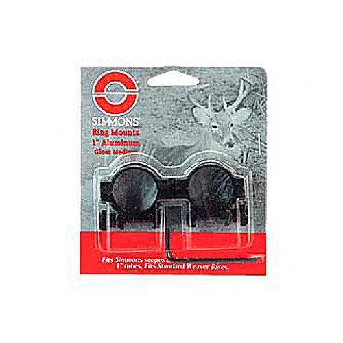 Simmons Aluminum Rings - Medium (Black Gloss) (Aluminum Gloss Ring)