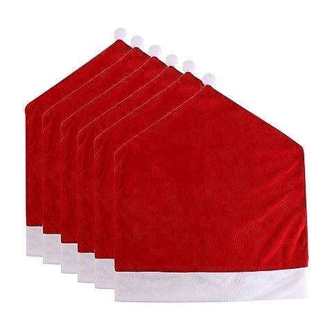 3938d0512e289 Amazon.com  Christmas Santa Hat Chair Covers