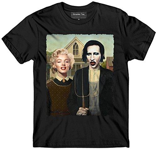 Marilyn Monroe t-shirt, Manson t-shirt, American Gothic, Funny, Glamour, Pinup