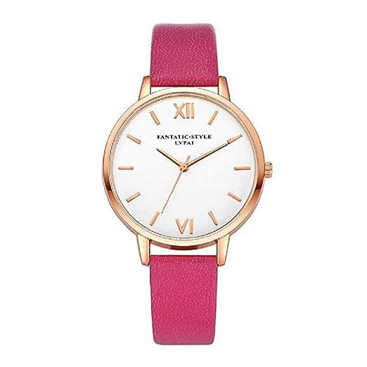 Scpink Relojes de Cuarzo para Mujeres, Relojes de Pulsera para Mujer, Relojes de Pulsera analógicos, Relojes de Cuero (Caqui): Amazon.es: Relojes