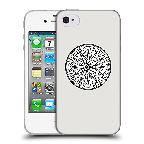 GoGoMobile Coque de Protection TPU Silicone Case pour // Q09760631 Mystique occulte 25 Platine // Apple iPhone 4 4S 4G