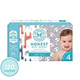 The Honest Company Super Club Box Diapers with TrueAbsorb Technology, Pandas & Safari, Size 4, 120 Count: more info