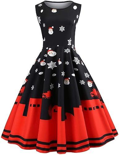 iBelly Vestido de Falda Vestido de Navidad (Retro) de los años 50 ...