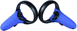 Esimen Controller Skin for Oculus Quest Rift S Premium GelPremium Gel Shell Silicone Grip Covers Protection Covers Featuring Low-Profile Friction Studs (Set of 2) (Blue)