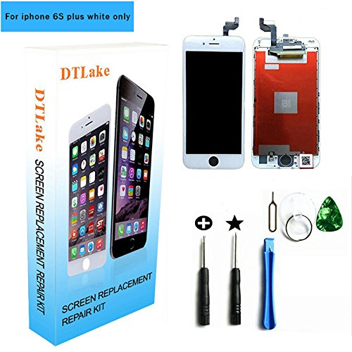 iphone 6s plus screen replacement,For iPhone 6S plus 5.5 inch LCD Replacement screen with 3D Touch Screen Digitizer Fram Assembly Full Set + free Tools (white)