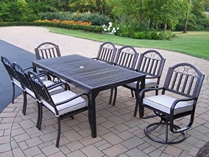 6687f7257620 Image Unavailable. Image not available for. Color  Oakland Living Rochester  9-Piece 80 by 40-Inch Dining Set ...