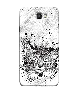 ColorKing Samsung J5 Prime Case Shell Cover - Cat Multi Color