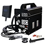 MIG Welder - F2C Flux Core Welder Welding Machine Gas/No Gas Welder (MIG-100)