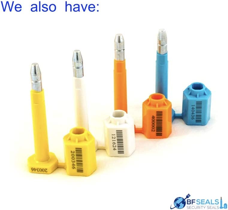 120 Pieces Yellow Color Bolt Seal for Cargo Containers and Truck Trailers Numbered and barcoded ISO and C-TPAT Certified