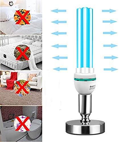 Lampada da Tavolo UVC Luce sterilizzazione disinfezione UV + ozono casa/Auto/Pet Acari deodorazione germicida pulisce Lampada ad Aria