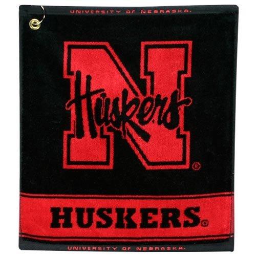 NCAA Nebraska Cornhuskers Woven Jacquard Golf - Jacquard Ncaa Towel Woven