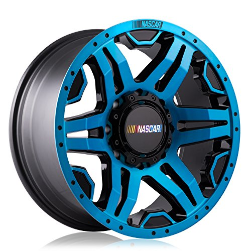 NASCAR N315 Gloss Blue Wheel with Milled Rivets/Machine Face/Machine Lip (20 x 9