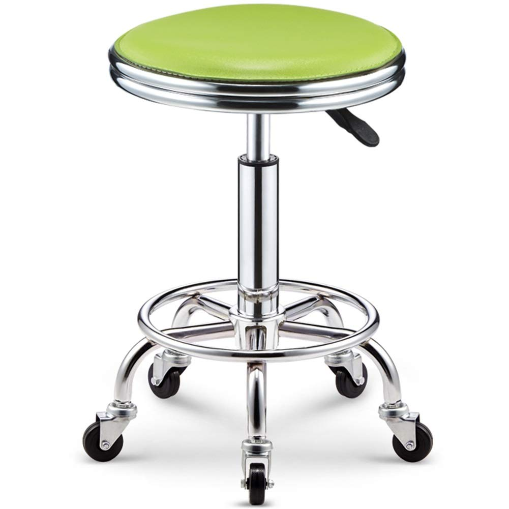 Green 43-55cm WEIYV-Chairs & Stools, Bar Table Chair Lifting redate Backrest Chair High Stool Bar Stool Beauty Stool Household Fashion Creative Round Stool (color   Black 38-50cm)
