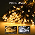 LE Dual Color LED String Light, 2 in 1 Cool and Warm White, Timer/Remote/Dimmable/9 Modes, Plug in Twinkle Light, 33ft 100 LED, Indoor Outdoor Decorative Fairy Light for Bedroom, Patio, Party and More