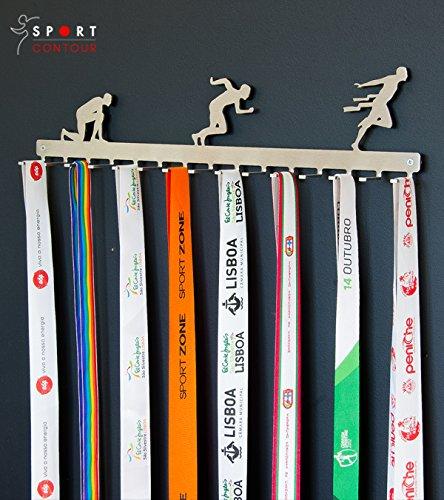 Medallero colgador de carreras (Running) - acero inoxidable Sport Contour