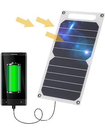 Cargador Solar, 10W 5V Panel Solar Portátil Batería Externa Power Bank con Puerto USB Cargador