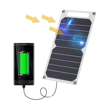 Amazon.com: Solar Charger, Portable Power Bank 10W 5V Solar ...