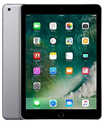 Apple iPad with WiFi, 32GB, Silver (2017 Model) from Apple Computer