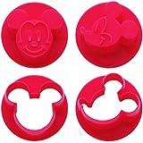 抜き型 ミッキーマウス わくわく かわいい顔の 野菜抜き型 ディズニー LKVN1