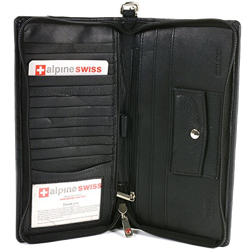 Deluxe Travel Organizer Wallet Passport Case Airline Ticket Holder Safe Zippered Removable Handle