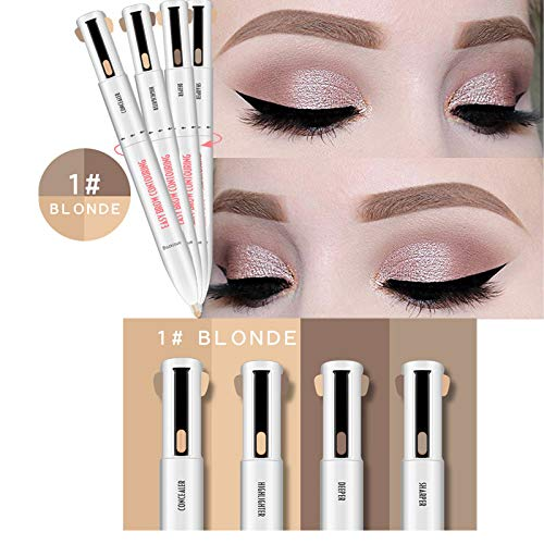 4-In-1 Easy To Wear Eyebrow Contour Pen Defining & lighting Brow Microblading Eyebrow Outline Tattoo Pen Eyebrow Pencil Dye 1