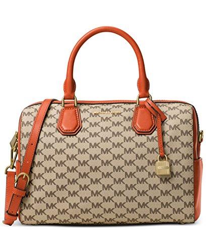 MICHAEL Michael Kors Signature Mercer Medium Duffle Bag Natural/Orange