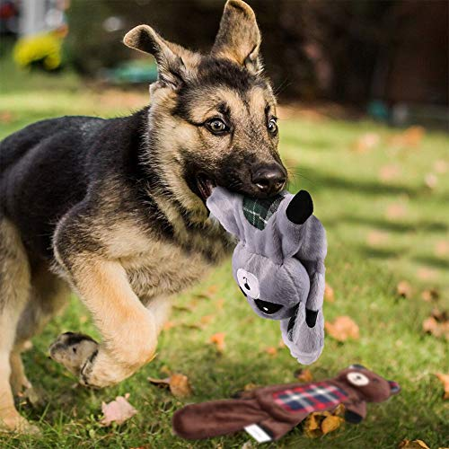 PrimePets Dog Toy Set (3Pcs Dog Squeak Toy Set(Fox, Raccoon, Bear)) by PrimePets (Image #8)