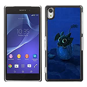 Paccase / SLIM PC / Aliminium Casa Carcasa Funda Case Cover - Design Happy Cute Dragon - Sony Xperia Z2 D6502 D6503 D6543 L50t L50u