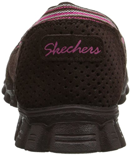 Skechers Ez Flex 2 Entrenadores Hasta Abrazados 22780 Negro Chocolate/Pink