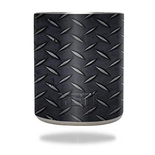 - MightySkins Protective Vinyl Skin Decal for YETI 10 oz Rambler Lowball wrap cover sticker skins Black Diamond Plate