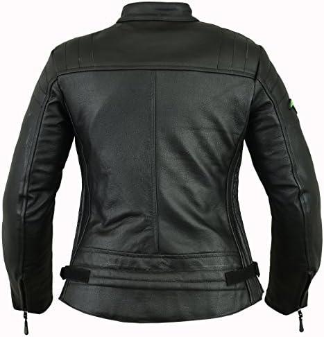 RIDEX LJ6 chaqueta de piel de moto, mujer: Amazon.es: Coche y moto