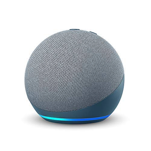 Echo Dot (4th Gen)   Smart speaker with Alexa   Twilight Blue with TP-Link Smart Plug (Certified for Humans product)