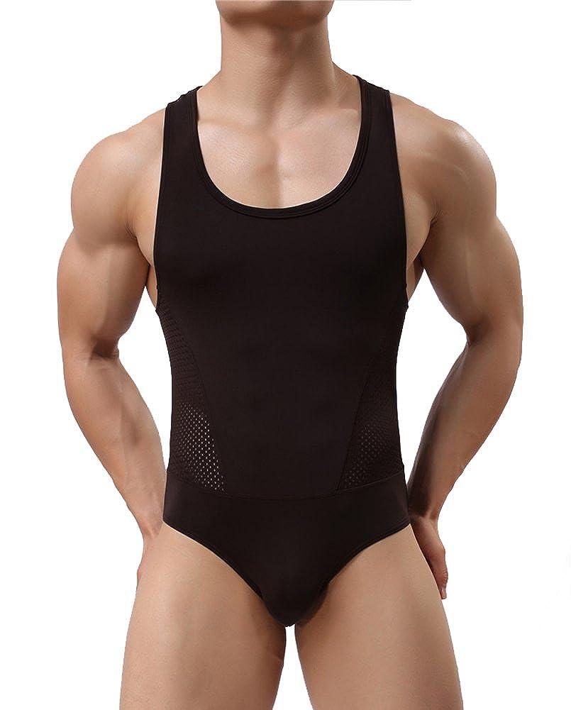 AWEIDS Männer Body Unterwäsche Fitness Stringbody Atmungsaktiv Nachtwäsche