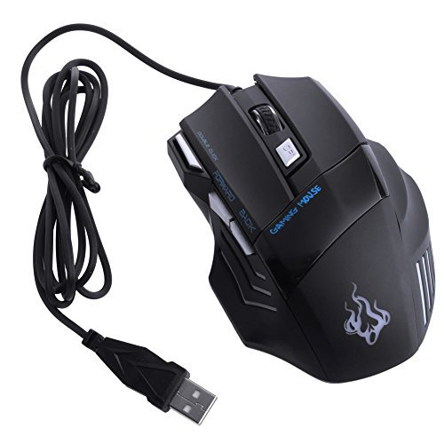 NNDA CO 5500 DPI 7 Button LED Optical USB Wired Gaming Mice Mouse Hot For Pro Gamer New (Keyboard Logitech 5500 Mx)