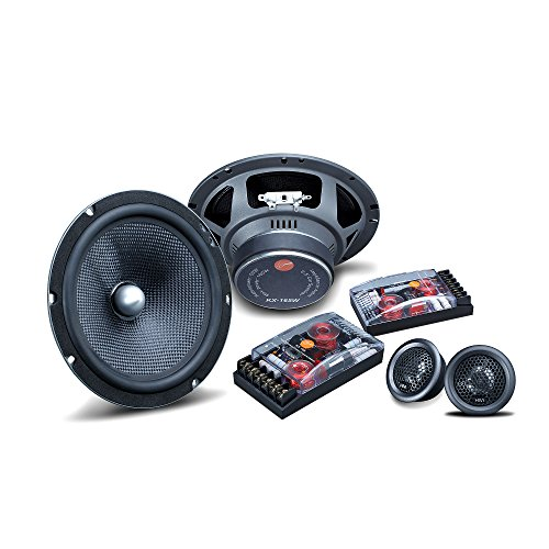 50w Mid Range - HiVi - KX165 - Professional Car Audio Speakers - High Performance Drivers Kit - Full Range Speakers - 360 Degrees Rotation - Includes Two 6.5'' Midrange Woofers & Two 1'' Dome Tweeters - 50W RMS