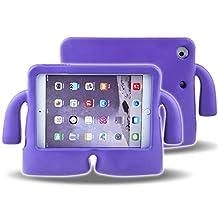 iPad Mini 1 2 3 Case for Kids MUZE® 3D Cute Cartoon Light Weight Protection Shock Proof Drop-proof Durable EVA Foam Children Kids Case Cover for Apple iPad Mini 1 2 3 Generation Protective Stand Case (Purple)