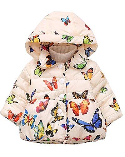 (Ancia Jolly Baby Girls Kids Toddler Winter Outerwear Snowsuit Coat Jacket(White,9-12)