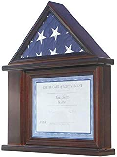 product image for Presentation Flag Display Case Certificate & Document Holder Frame Military Shadow Box, for a 3' X 5' Flag